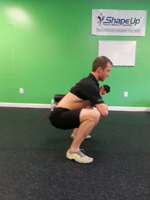 Bodyweight squat without spinal integrity